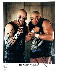Headbangers Mosh & Thrasher Dual Signed 8x10 Photo Autograph WWE Wrestling COA