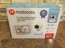 "Motorola MBP50 5"" video baby monitor remote pan tilt and zoom FREE POST BNIB"