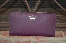 AUTHENTIC KATE SPADE NEW YORK Cameron Street Stacy Wallet deep plum PWRU5072