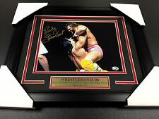 RICKY THE DRAGON STEAMBOAT SIGNED 8X10 PHOTO FRAMED VS. RANDY MACHO MAN SAVAGE