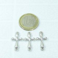 34 Cruces Para Pulsera 24x12mm T356X Plata Tibetana Charms Pendants Cross