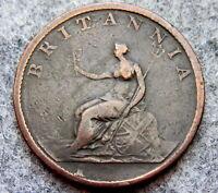 GREAT BRITAIN GEORGE III 1807 HALF 1/2 PENNY