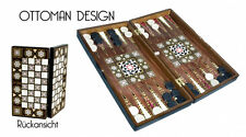 Orientalische Backgammon Spiel Sedef Tavla Ottoman Design 50cm x 50cm x 7cm NEU