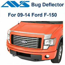AVS Fits 2009-2014 Ford F150 Aeroskin Chrome Hood Protector Bug Shield 622001