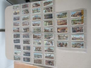 WD & HO Wills Mining 1916 Full Set of 50 cards in plastic sleeves