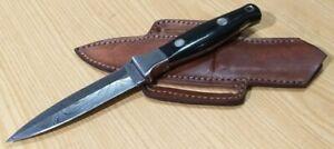 Custom hand made knife king's Love Less Design double edge dagger knife