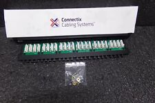 009-001-001-01 Connectix Cabling Systems Patch Panel 24Way Cat 5E High Density