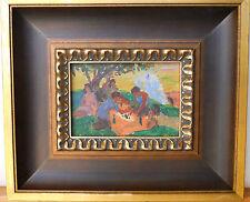ARMENIAN ART,Soviet Impressionist Painting,Picnic by HARUTYUNYAN,Armenia,1950s