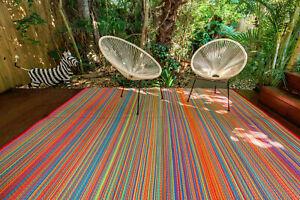 200x270cm Mexicali Outdoor/Indoor Plastic Rug/Mat Orange Waterproof Modern