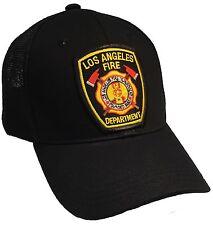 Los Angeles Fire Department LAFD Hat Black Trucker Cap