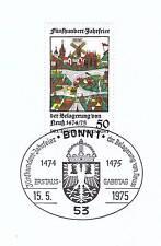 BRD 1975: Belagerung von Neuß! Nr 843 mit Bonner Ersttags-Sonderstempel! 1A! 155