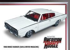 1966 Dodge Charger White 1:18 Auto World 990