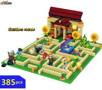 plants vs zombies Set Anime Garden Maze Struck Game Building Blocks toy games