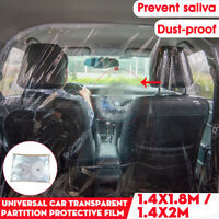 Car Taxi SUV Isolation Film PVC Transparent Shield Anti-saliva Protective