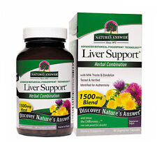 Nature's Answer Liver Support - 1500m- 90 Vegetarian Capsuless, Exp Date;11/2021