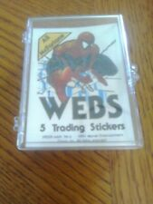 Spiderman Webs All McFarlane Cards Stickers Set 76 Cards