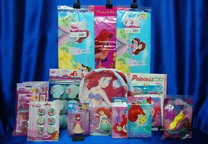 Little Mermaid Party Set # 21 Invites Thanks Plates Napkins Balloons Ariel Party