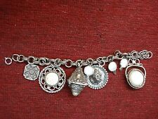 VINTAGE COSTUME CHARM BRACELET WITH UNUSUAL CHARMS - HAVE A LOOK