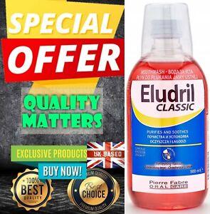 Eludril Classic Mouthwash BIG ONE! Medical 500 ml  Chlorhexidine Chlorobutanol