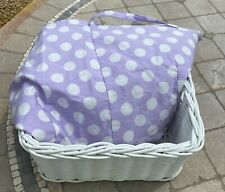 Pottery Barn Kids Basket Liner Purple/White Polka Dot