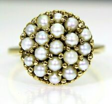 Vintage 1960's Pearl Bombe 9ct Yellow Gold Ring size L 1/2  ~ 6