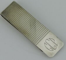 Sterling Silver Vintage 925 Money Clip Accessory Monogrammed Gift