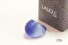 LALIQUE NERITA BLUE CRYSTAL DOMED RING Sz US-6/T52/UK-M WITH ORIGINAL BOX