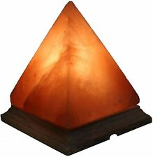 Natural Himalayan Pink Salt Pyramid Shape Lamp USB, Night Light, Air Purifier