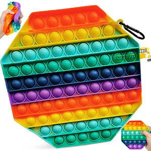SIMPLE DIMPLE Stress Relief Fidget Toys Popper Bubble🌈Rainbow Autism Kids Adult