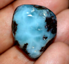 44.10 Ct Natural Blue Larimar Pectolite Polished AGSL Certified Untreated Tumble