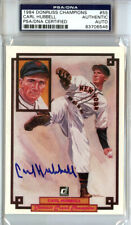 Carl Hubbell Autographed 1984 Donruss Champions Card #55 Giants PSA/DNA 83706546