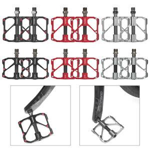 MTB Road Bike Ultralight Carbon Titanium Bicycle Pedal Platform Pedal 3Bearings