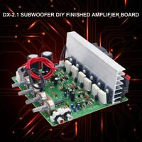 3-CH Subwoofer Amplifier Board 2.1 Amplifier Board 100W*2 + 120W*1 Fan Cooling