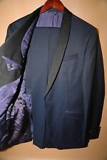 #41 Ted Baker 'Josh' Trim Fit Navy Shawl Lapel Tuxedo Size 40 L   RETAIL $ 1,095