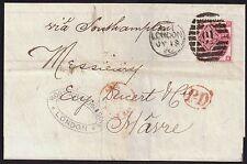 GB 1868 3d Victoria (1840-1901) sg103 p5 cover 91 London 18 Jul 1870 duplex*