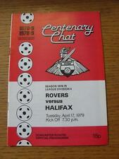 17/04/1979 Doncaster Rovers v Halifax Town (Item has no apparent faults).