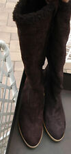 NIB GUCCI BROWN SUEDE GUCCISSIMA PULL UP BOOTS 10 B