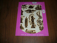 Vintage Meyercord gold country items decal sheet A