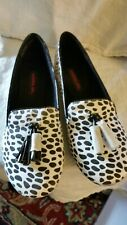 MATERIAL GIRL Women's Dalmation Fabric Slip On Flats Oxford Shoes Size 8.5 NWB