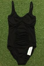 New Seafolly Goddess D Cup UTube Maillot In Black - Size AU10 / US6