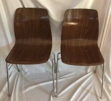 Pagholz Molded Plywood Stacking Chairs Mid Century Modern West Germany (set of 2