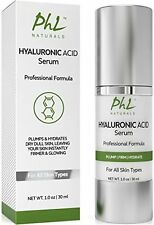 PHL Naturals Hyaluronic Acid Serum for Younger and Healthier Looking Skin - 1 oz