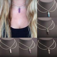 Vintage Women Crystal Chain Choker Statement Chunky Collar Pendant Necklace Gift
