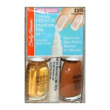 SALLY HANSEN 4pc* French Manicure SHEER PINK Pen+Polish Set/Kit 5 MINUTE #2315