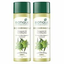 Biotique Bio Bhringraj Fresh Growth Therapeutic Oil for Fine, 120ml (Pack of 2)