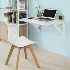 Wall-Mounted Drop-Leaf Computer Desk White Folding Dining Table Solid Wood