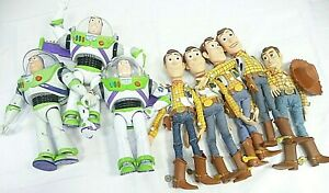 HUGE Disney Toy Story Interactive Buzz Lightyear Woody Job Lot Thinkway CE (HS)
