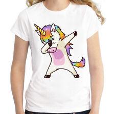 T-shirt Maglietta bambina Unicorno Dab Dance ver.1 little pony cotone maglia