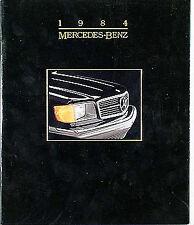 1984 Mercedes-Benz Sales Catalog 84 190 300 380 500 D E CD TD SE SL SEL SEC