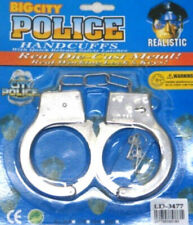 Kids Metal Handcuffs Hand Cuffs Police Fancy Dress Children Pretend Play